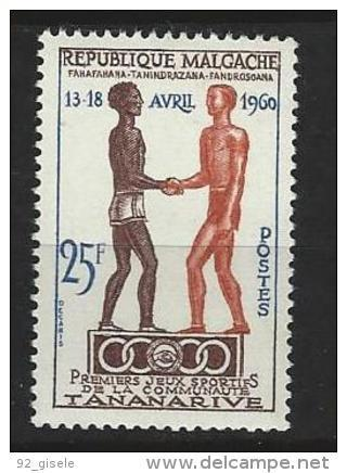 "Madagascar YT 354 "" Jeux Sportifs "" 1960 Neuf** - Madagascar (1960-...)"