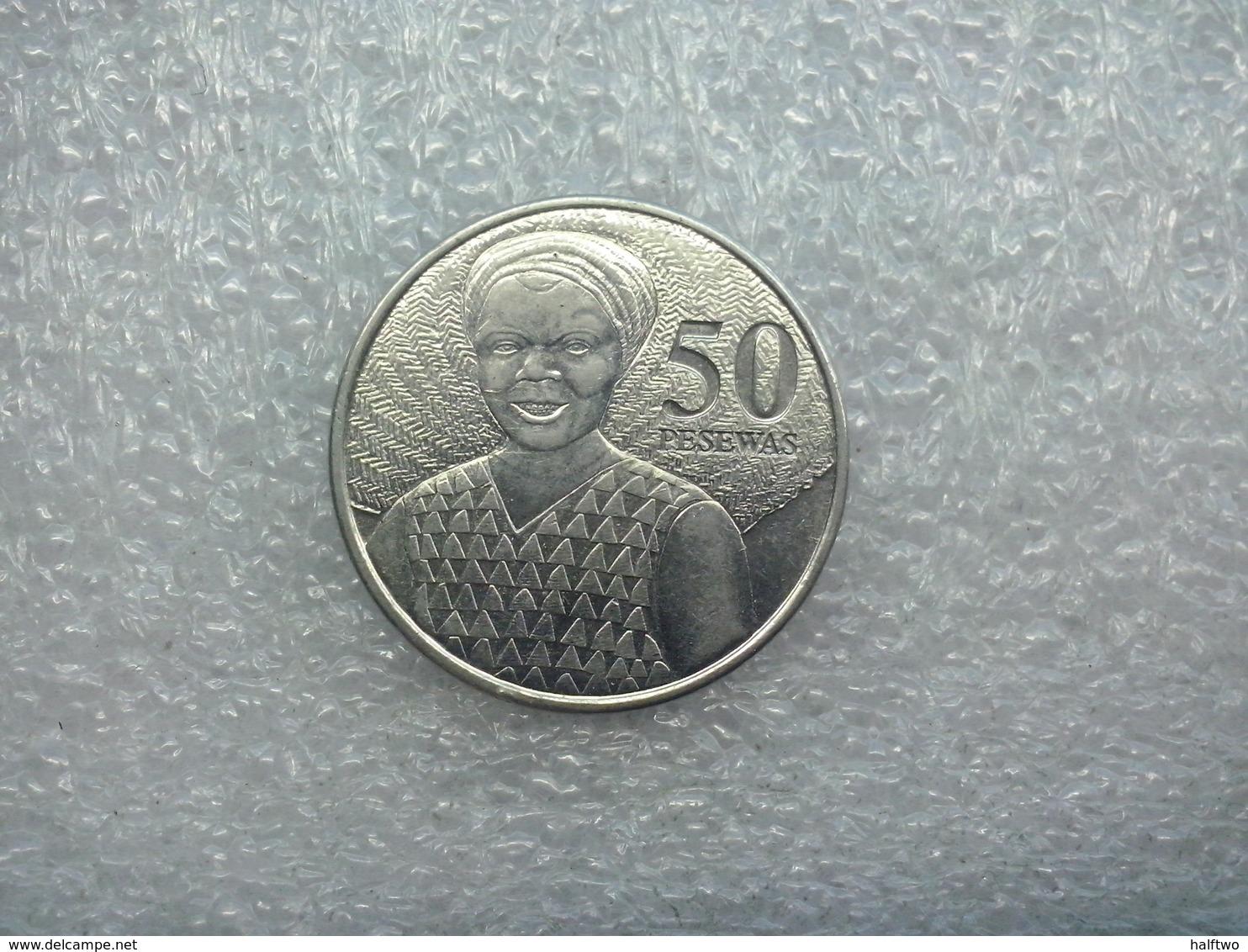 Ghana  50 Pesewas  2007   (used Coin) - Ghana