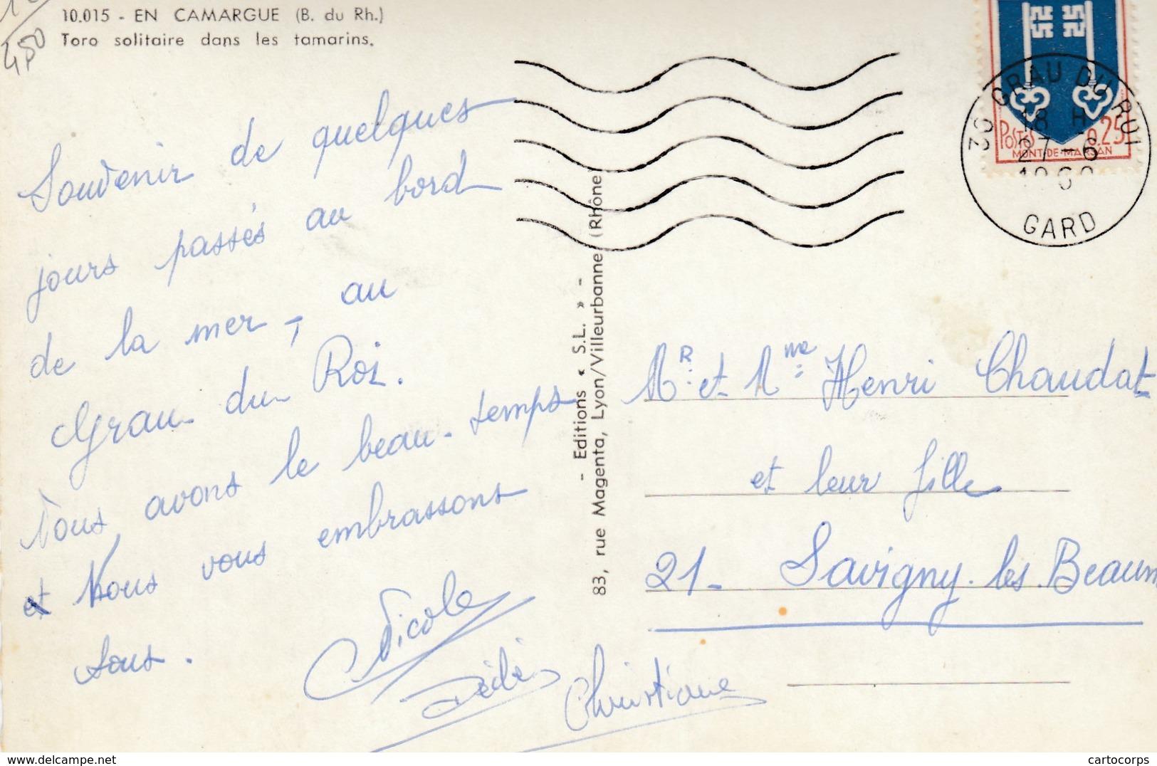 13 - En Camargue - Beau Cliché D'un Taureau Solitaire Dans Les Tamarins - France