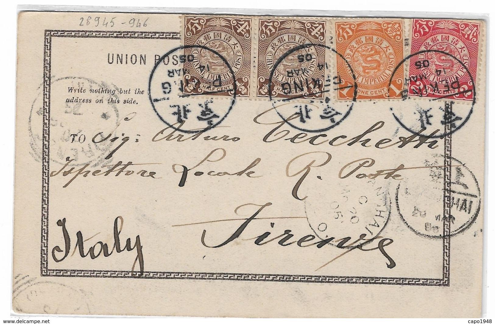 CARD CINA PEKING LEGAZIONE ITALIANA  CASERMA ITALIANA 2 SCANNER -FP-V-2-   0882 28945-946 - Chine