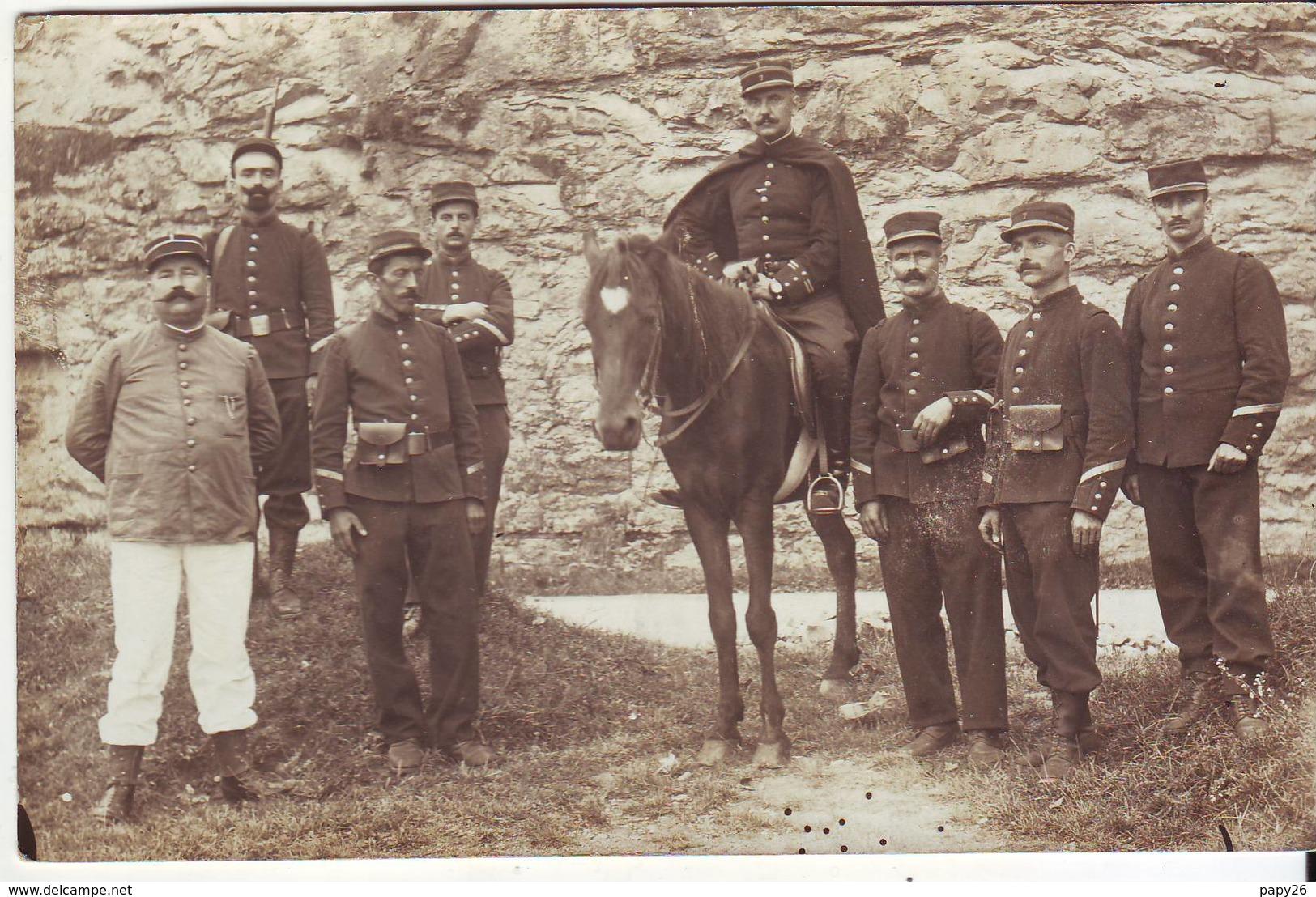 Cp Photo Militaire écrite De Cahors - Regimente