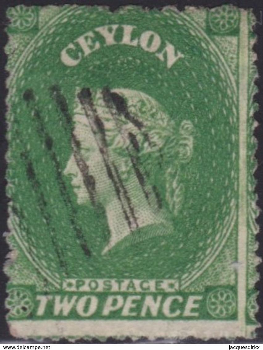 Ceylon      .   SG      .    20b        .   O      .       Cancelled      .   /    .   Gebruikt - Ceylon (...-1947)