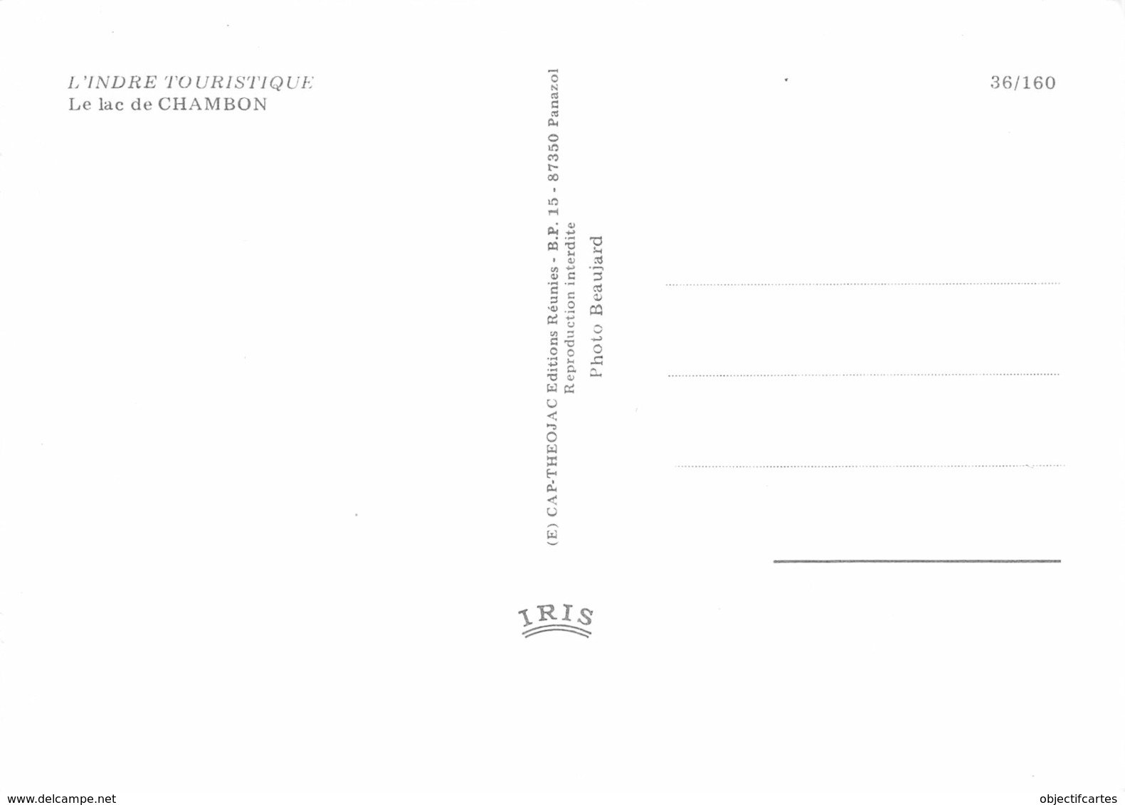 36  Lac CHAMBON Éguzon-Chantôme Cuzion Saint-Plantaire Et Crozan  18 (scan Recto Verso)MA014BIS - France