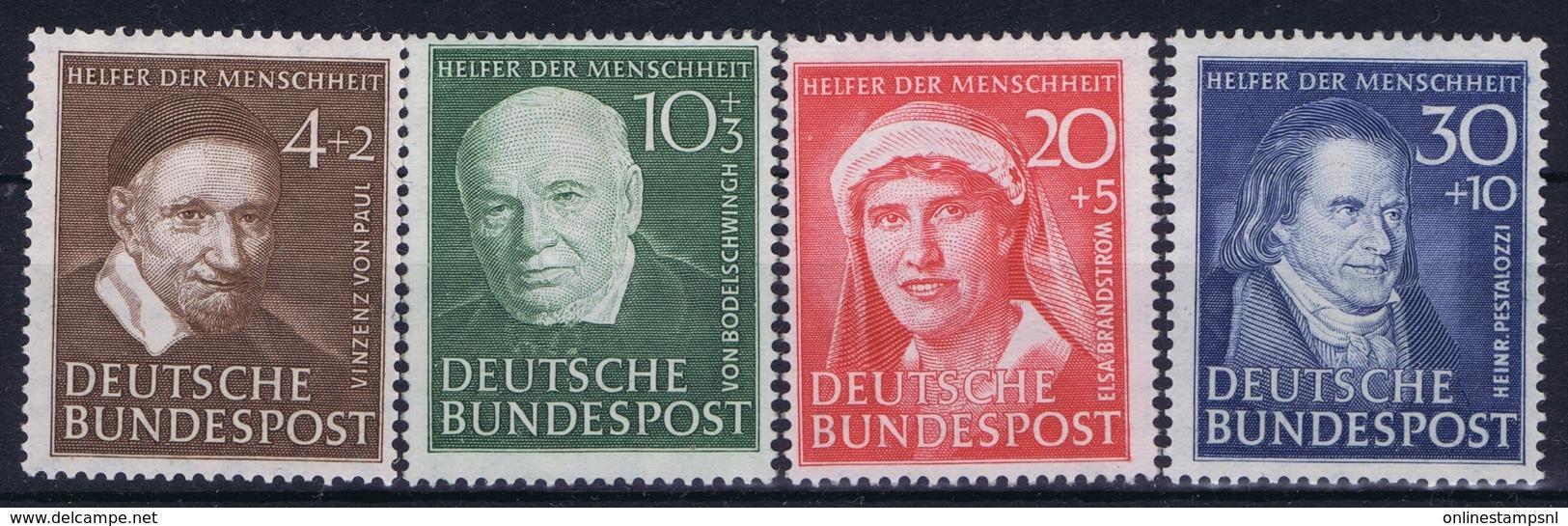 Bundespost: Mi 143 - 146 Postfrisch/neuf Sans Charniere /MNH/**   1951 - Ungebraucht