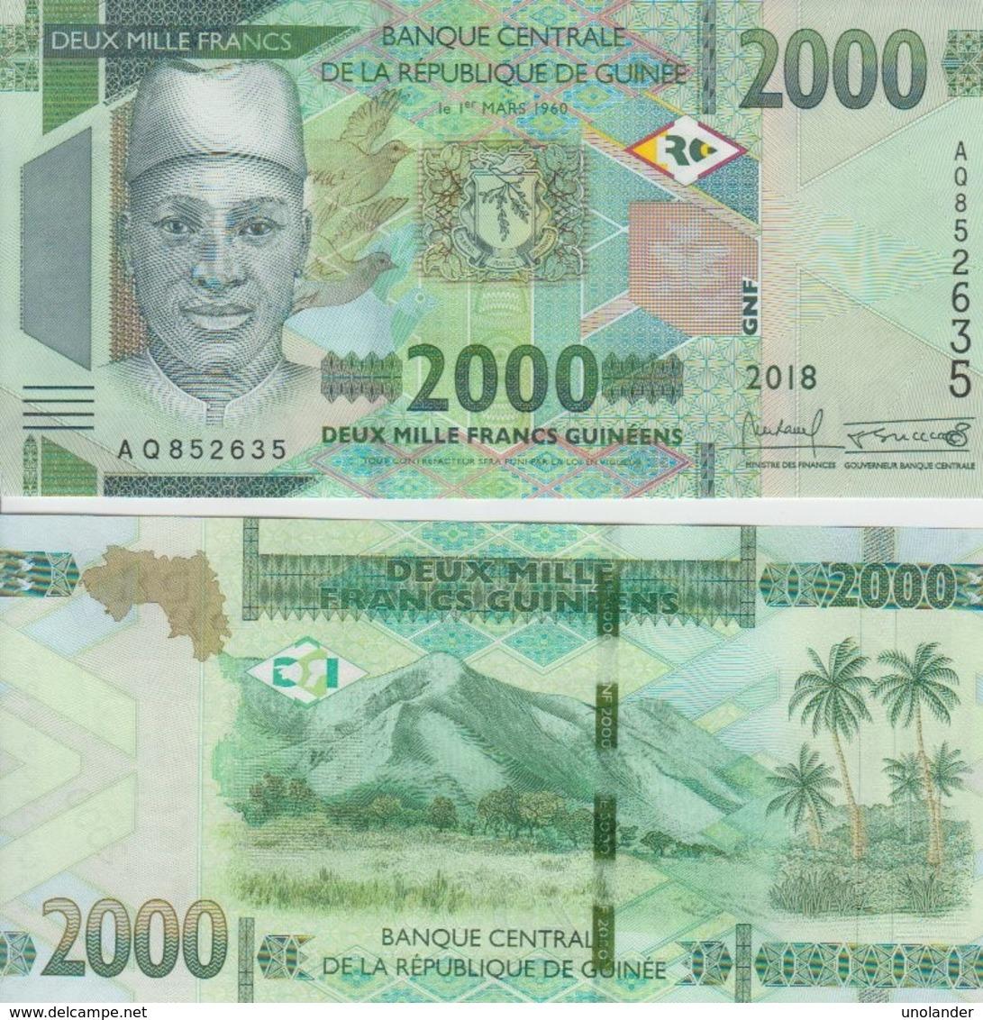 Guinea 2000 Francs 2018 P New UNC - Guinea