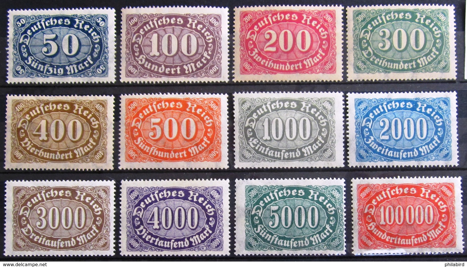 ALLEMAGNE Empire               MICHEL  N° 246/257     Filigrane B                      NEUF** - Unused Stamps