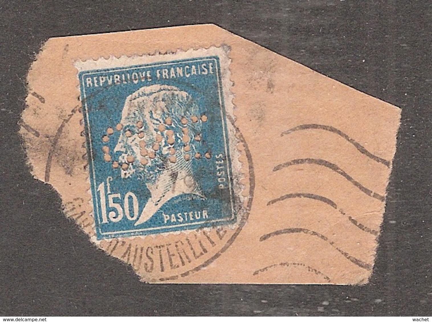 Perforé/perfin/lochung France No 181 CNE  Comptoir National D'Escompte (310) - France