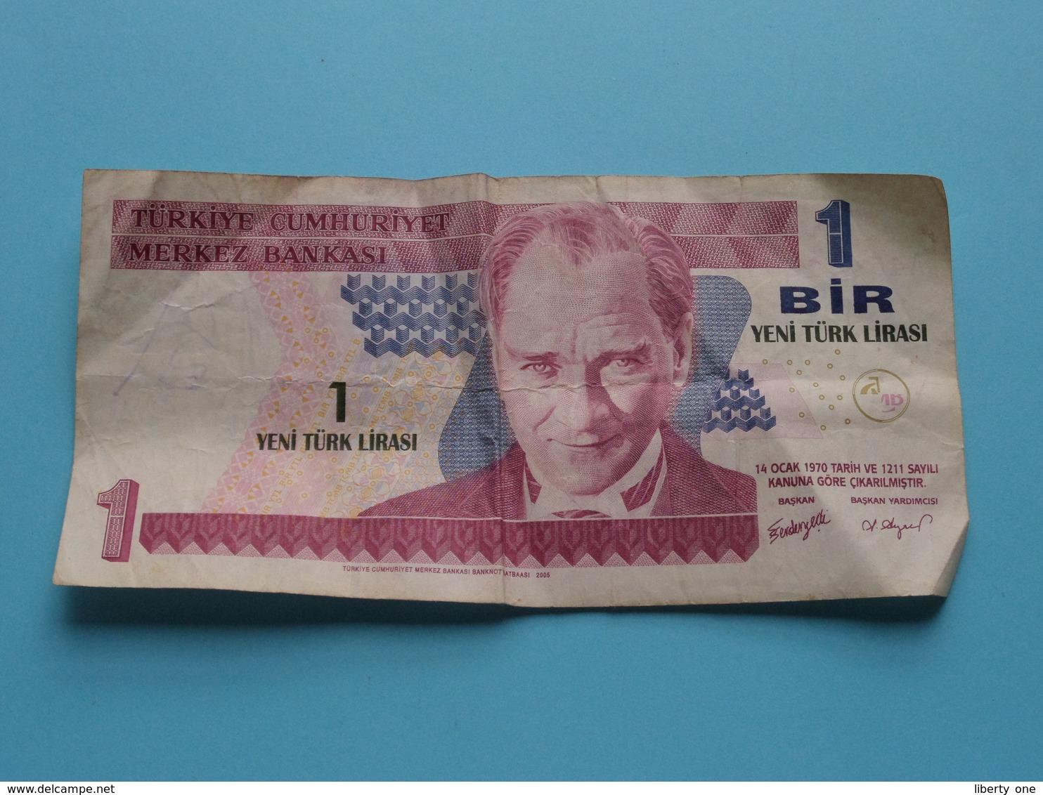 1 BIR Yeni Türk Lirasi : 14 Ocak 1970 > A45 171268 ( Türkiye Cumhuriyet Merkez Bankasi ) ! - Turchia