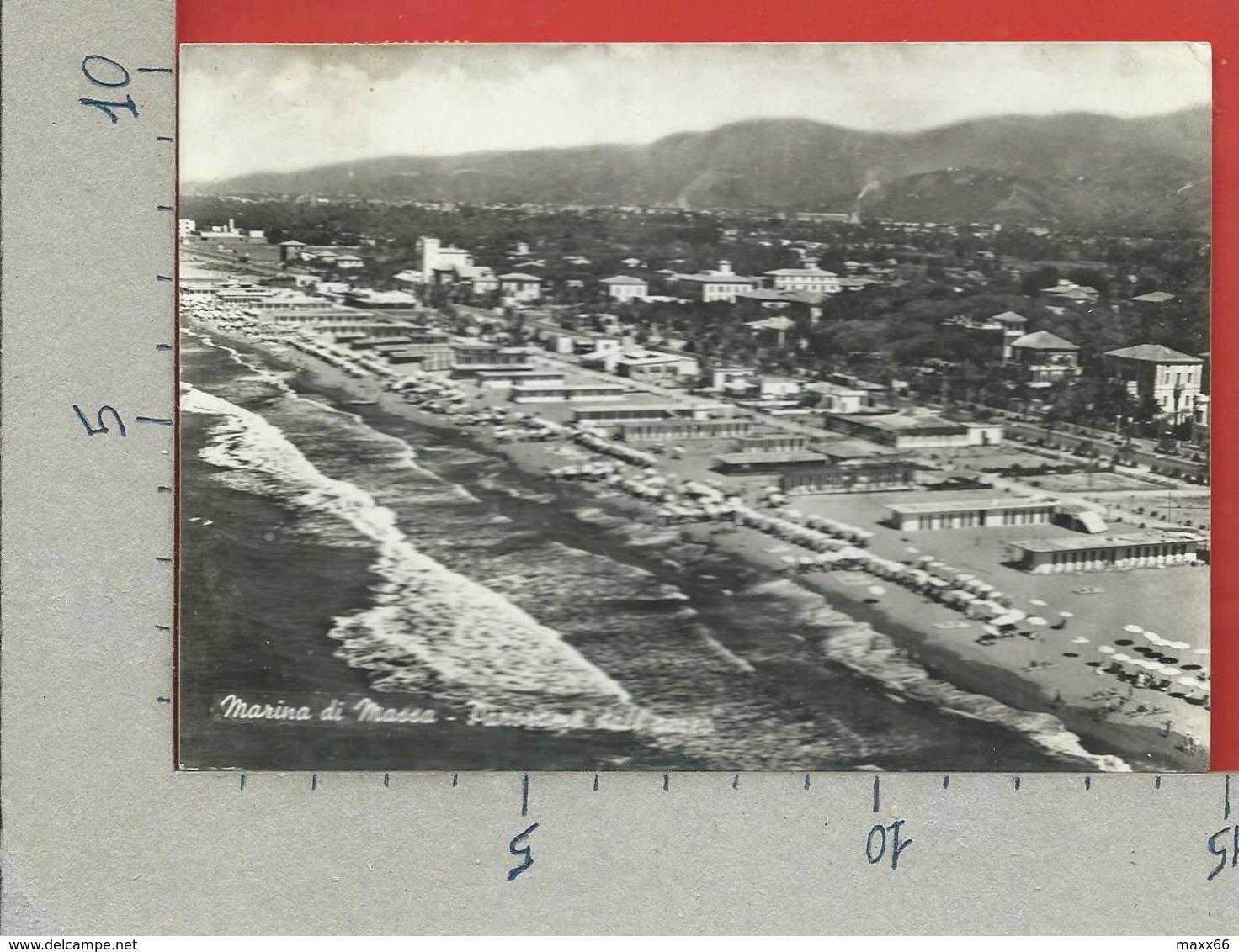 CARTOLINA VG ITALIA - MARINA DI MASSA (MC) - Panorama Dall'aereo - 10 X 15 - ANN. 1956 - Massa