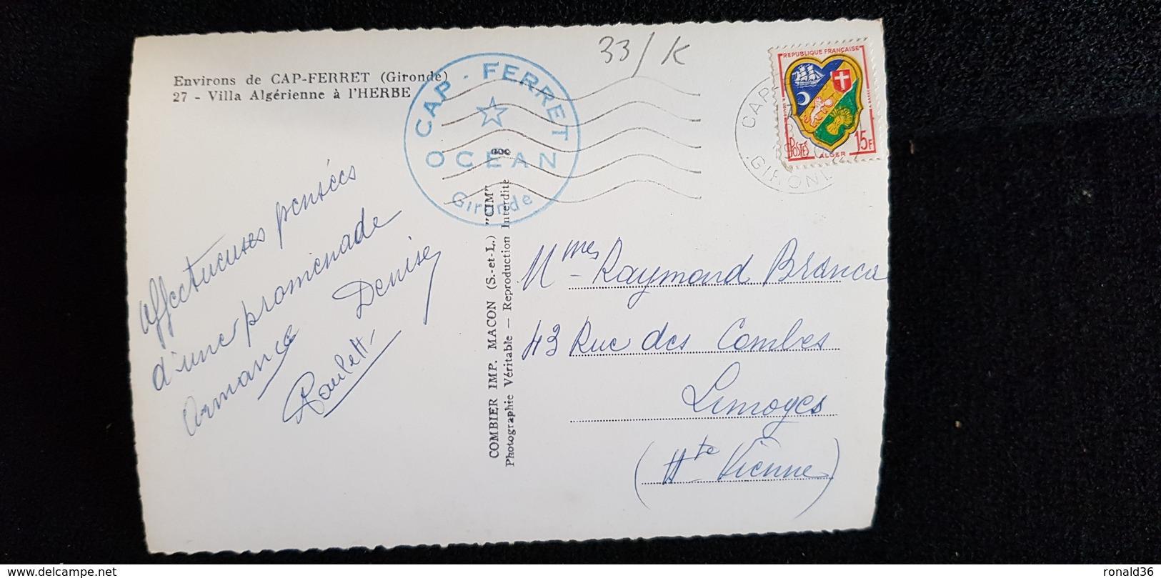 Cp 33 Gironde Environ CAP FERRET Bassin ARCACHON VILLA ALGERIENNE A L'HERBE / Habitation Mini Golf Ou Parcoure Croquet ? - France