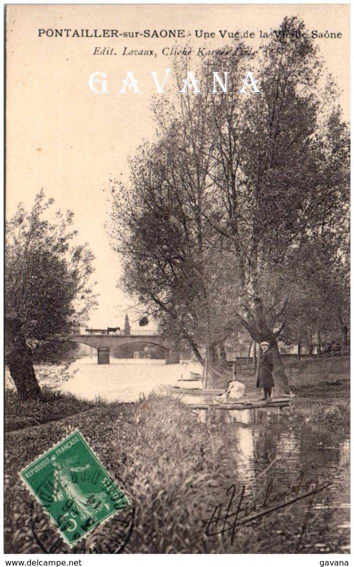 21 PONTAILLER-sur-SAONE - Une Vue Sur La Vieille Saône - Autres Communes