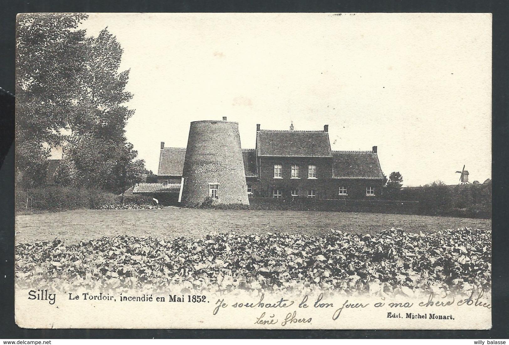 +++ CPA - SILLY - Le Tordoir Incendié En Mai 1852  // - Silly