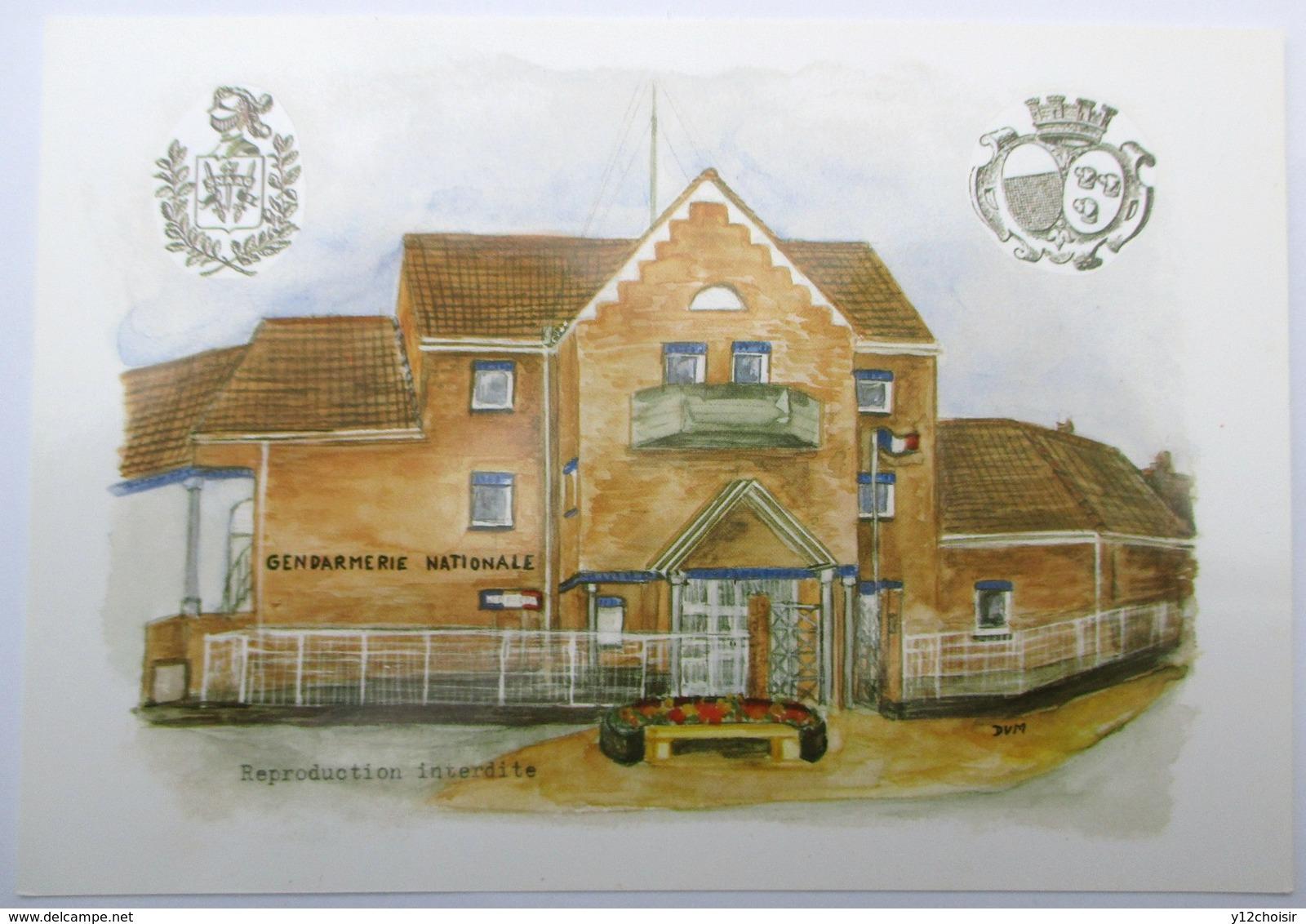 CPSM LA NOUVELLE GENDARMERIE NATIONALE LANNOY DU NORD NORD N° 04859 DESSIN DUN DUM - Police & Gendarmerie