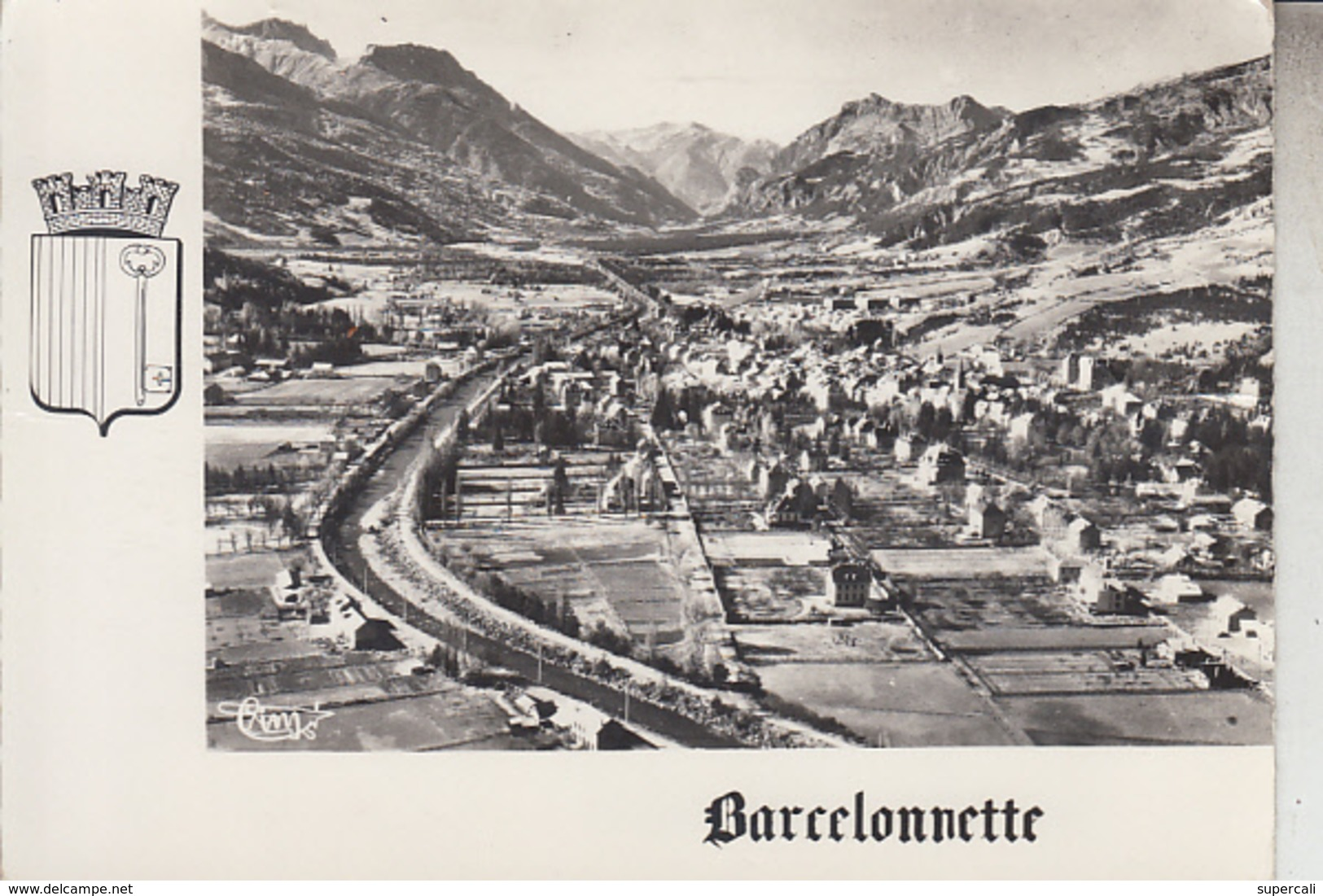 RT33.083. BARCELONNETTE.( 04 )  VUE GENERALE N° 394-8 A COMBIER MACON. - Barcelonnette
