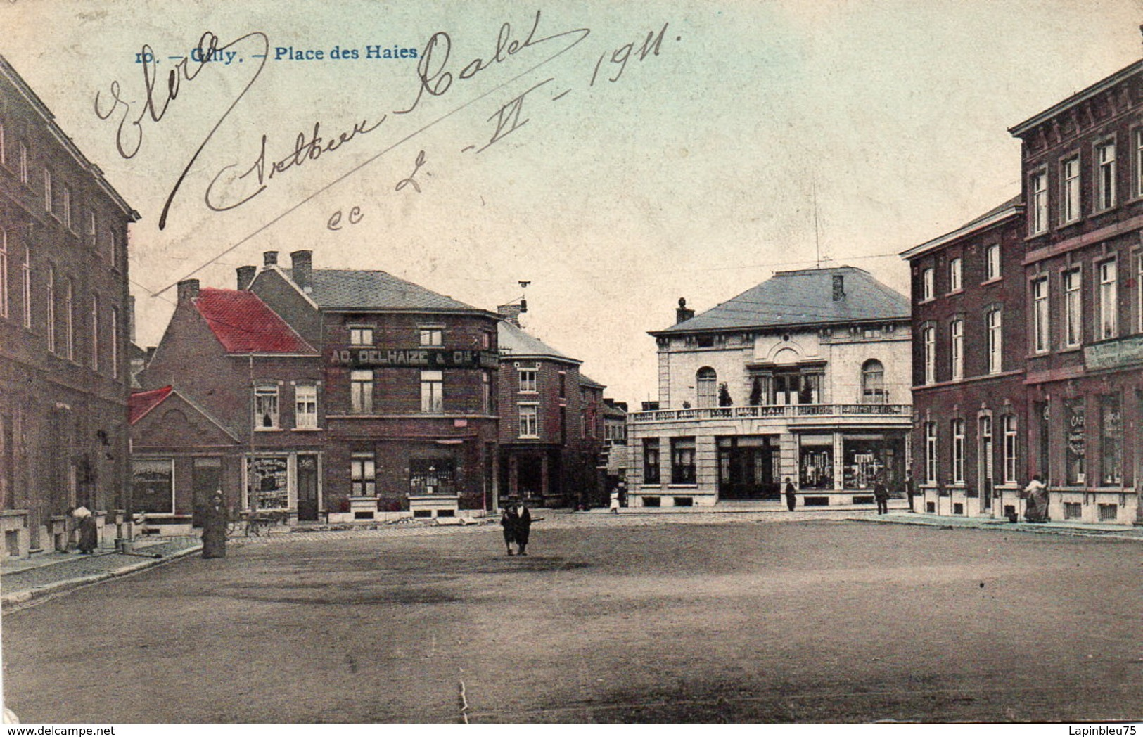 CPA Belgique Hainaut Autres Gilly Place Des Haies - Belgique
