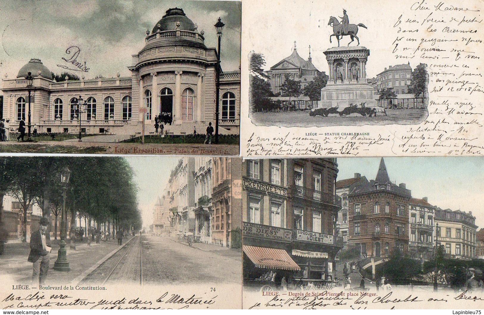 CPA Belgique Liège Constitution Degrés St Pierre Notger Beaux-arts Charlemagne - Liege