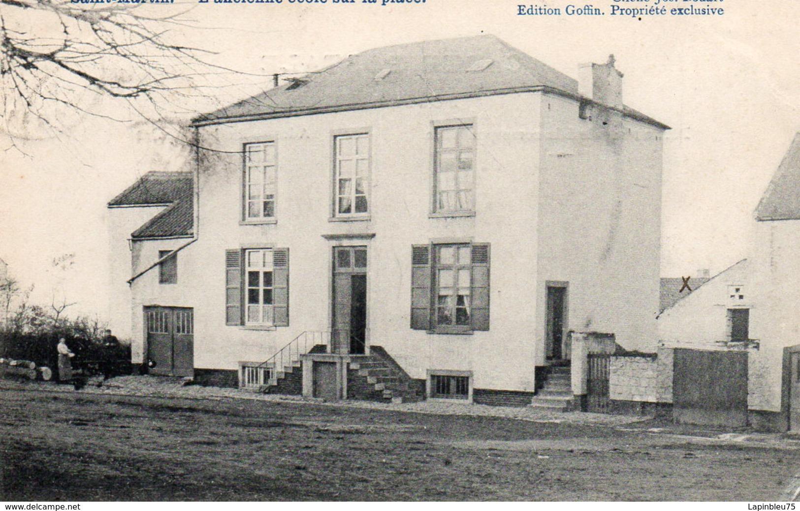 CPA Belgique Namur Jemeppe Sur Sambre Saint Martin Ancienne école Sur La Place - Jemeppe-sur-Sambre