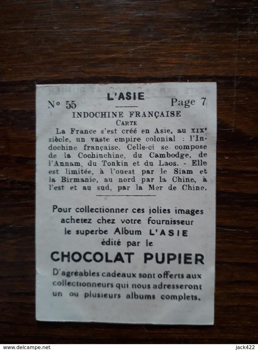 L20/40 Chromo Image Chocolat Pupier. Indochine Française - Chocolate