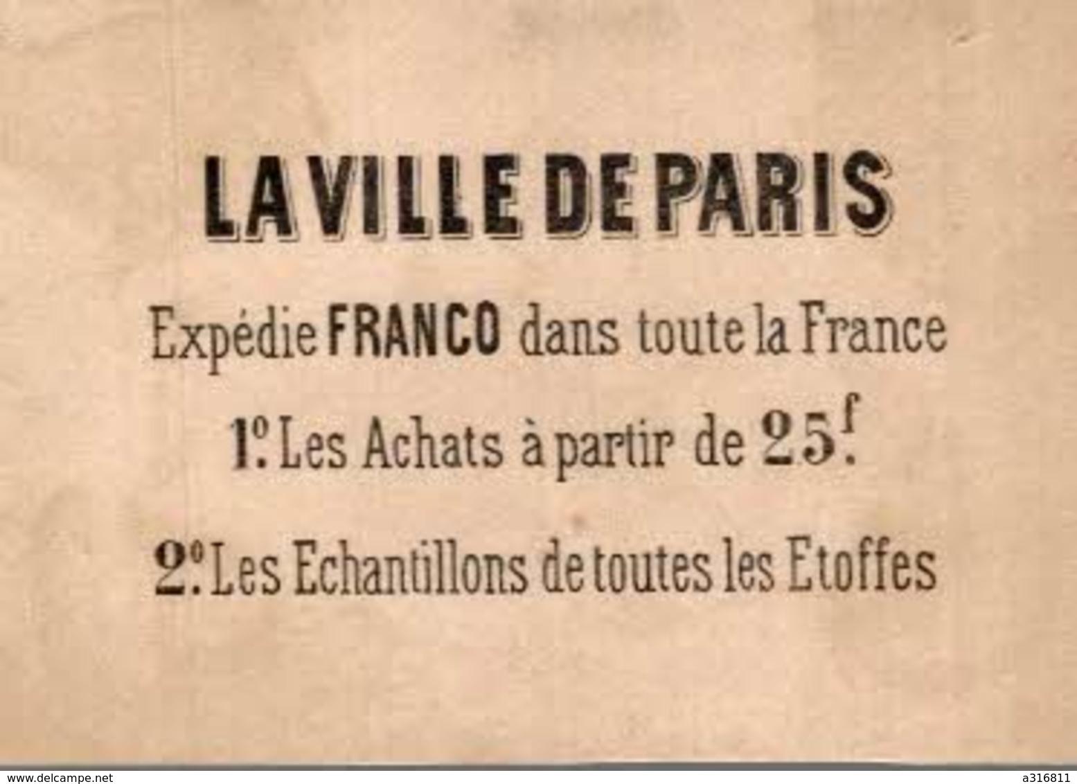 A LA VILLE DE PARIS - Chromos