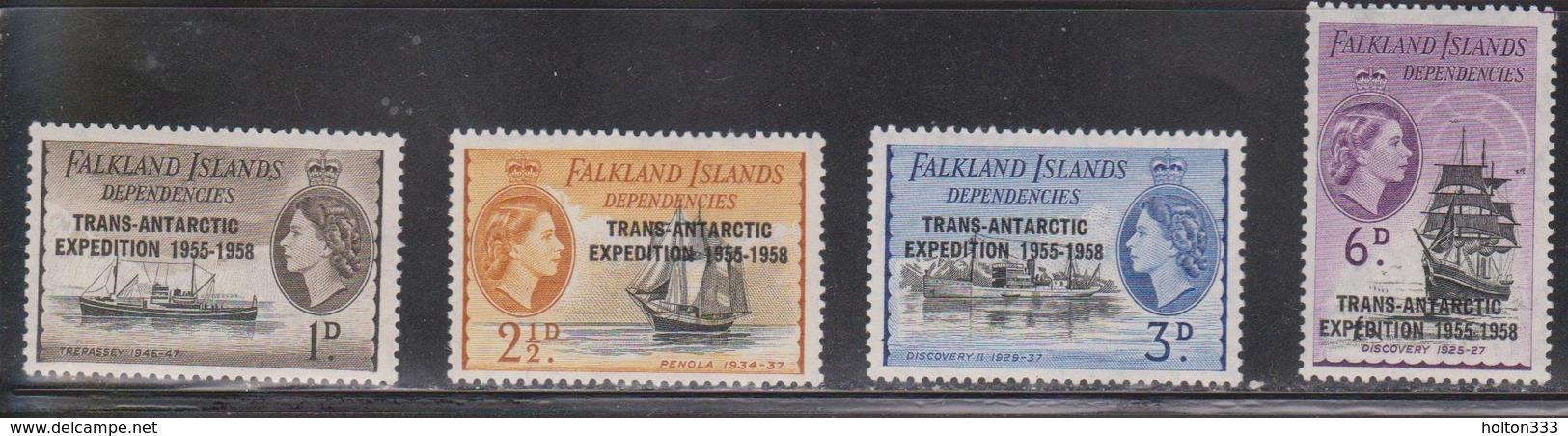 FALKLAND ISLANDS DEPENDENCIES Scott # 1L34-7 MH - Trans Antarctic Expedition - Falkland Islands