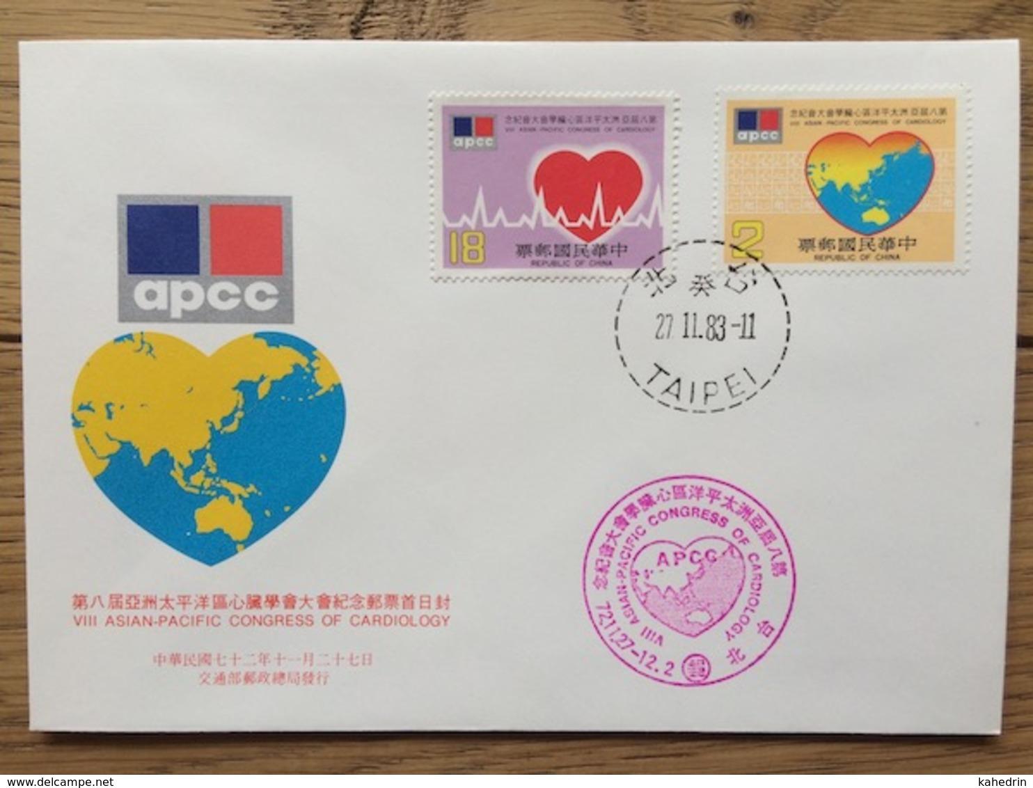 Taiwan 1983, FDC: Cardiology Heartbeat - FDC