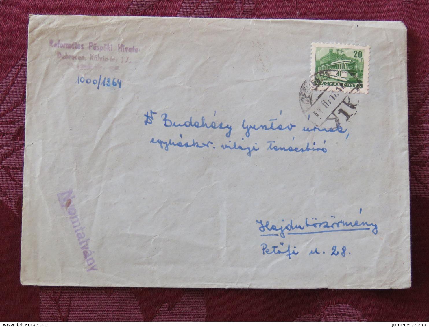 Hungary 1964 Cover Debrecen To Petofi - Tramway - Hungary