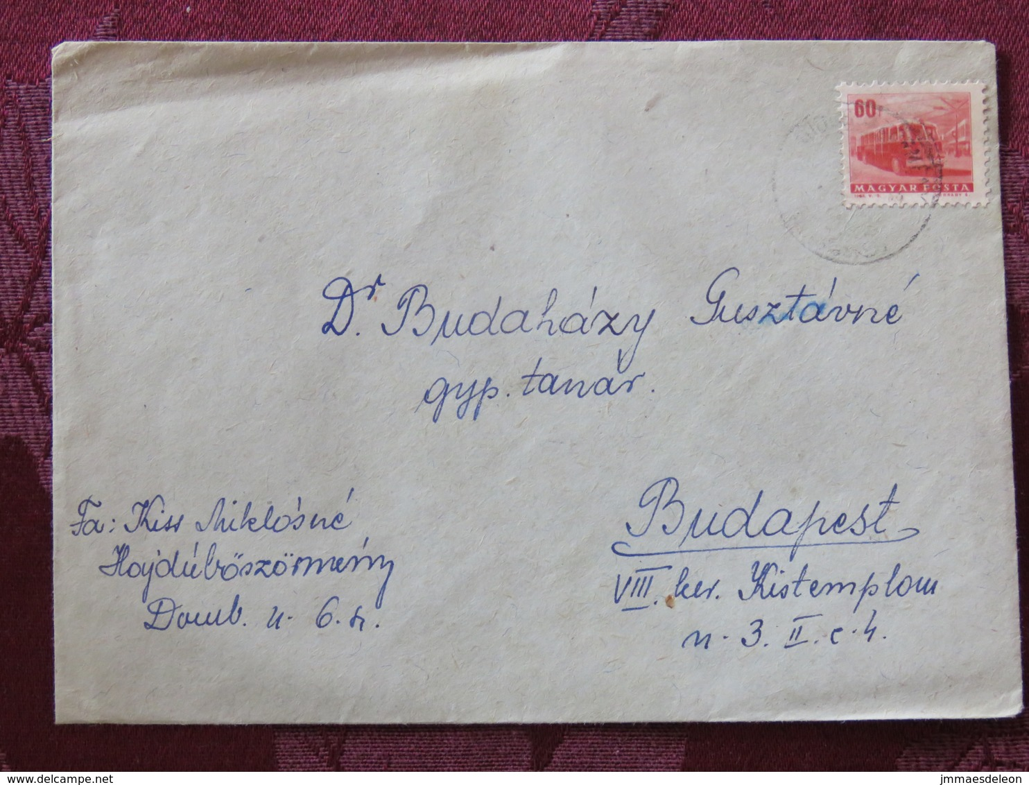 Hungary 1965 Cover Hajduboszomeny To Budapest - Autobus - Hungary