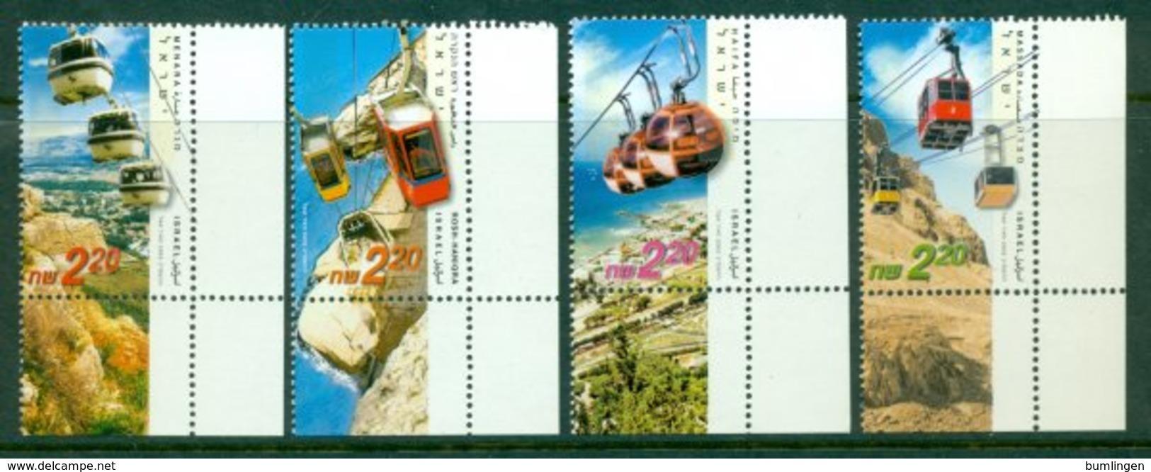 ISRAEL 2002 Mi 1685-88** Cable Cars [A1787] - Autres (Air)
