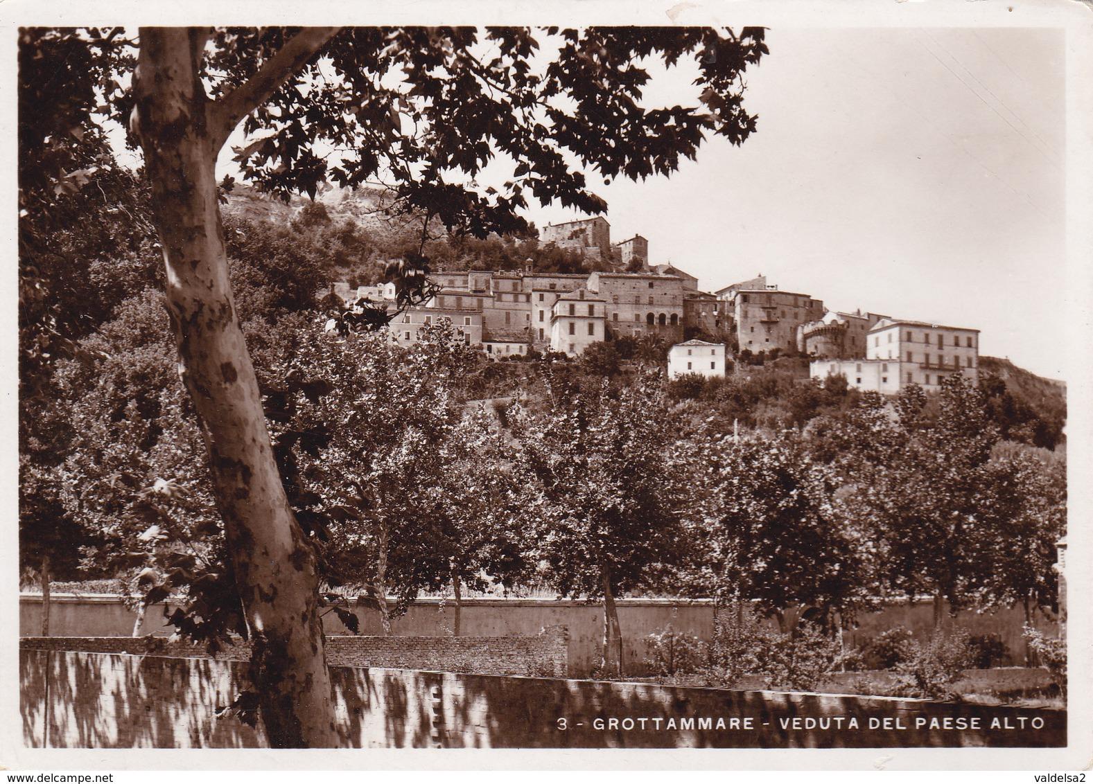 GROTTAMMARE - ASCOLI PICENO - VEDUTA DEL PAESE ALTO - VIAGGIATA NEL 1941 - Ascoli Piceno