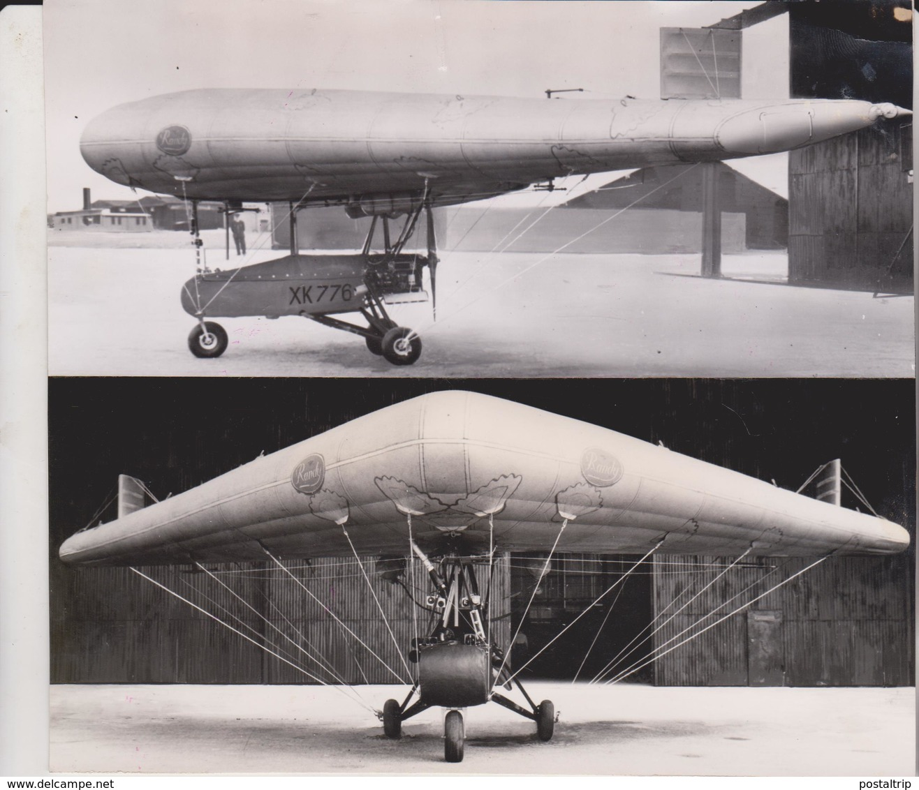 2 FOTOS M.L. AVIATION  COMPANY  20 * 18 CM Aviation, AIRPLAIN, AVION AIRCRAFT - Aviación