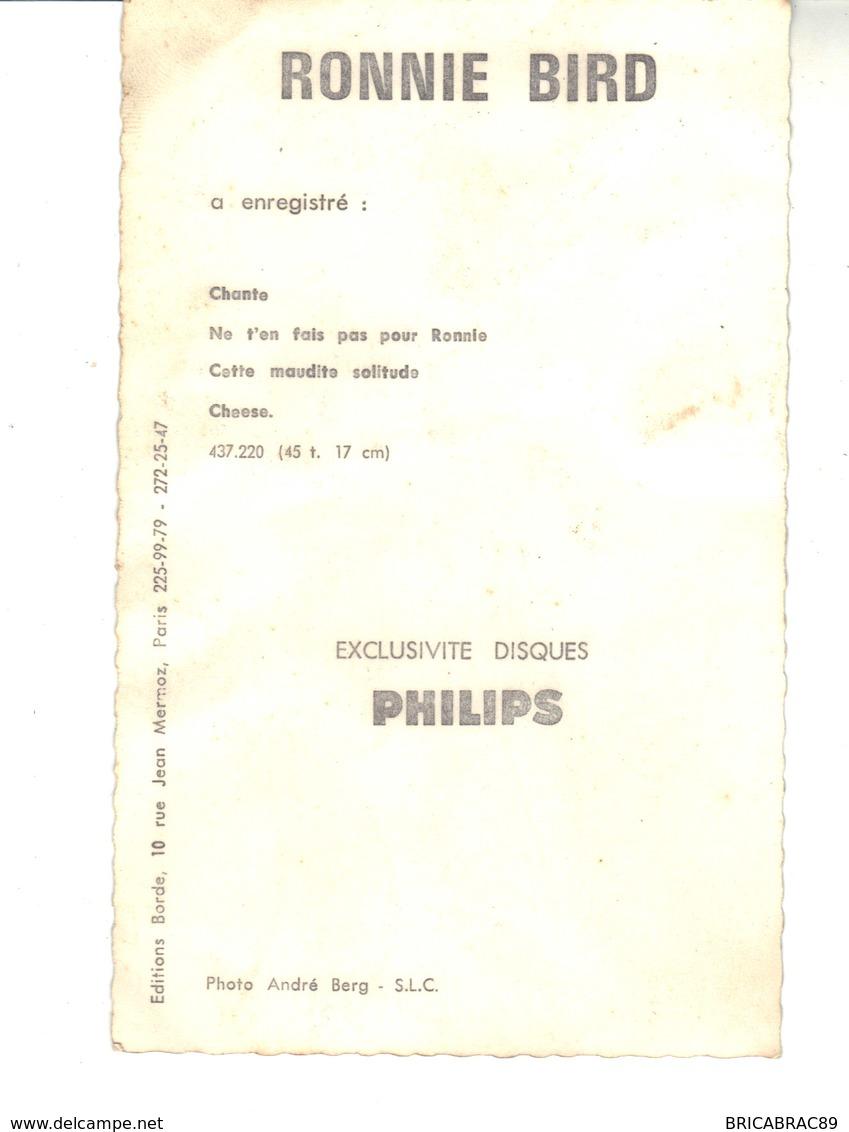 CPM -  RONNIE  BIRD  Carte Promotionnelle  Philips - Singers & Musicians