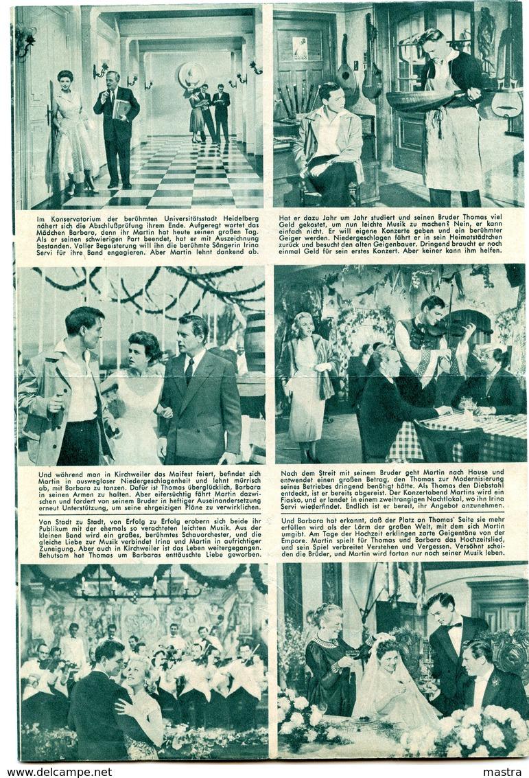 "BIBI JOHNS In ""A THOUSANDS MELODIEN"" Germany 1956 Original German Film Program - Film & TV"