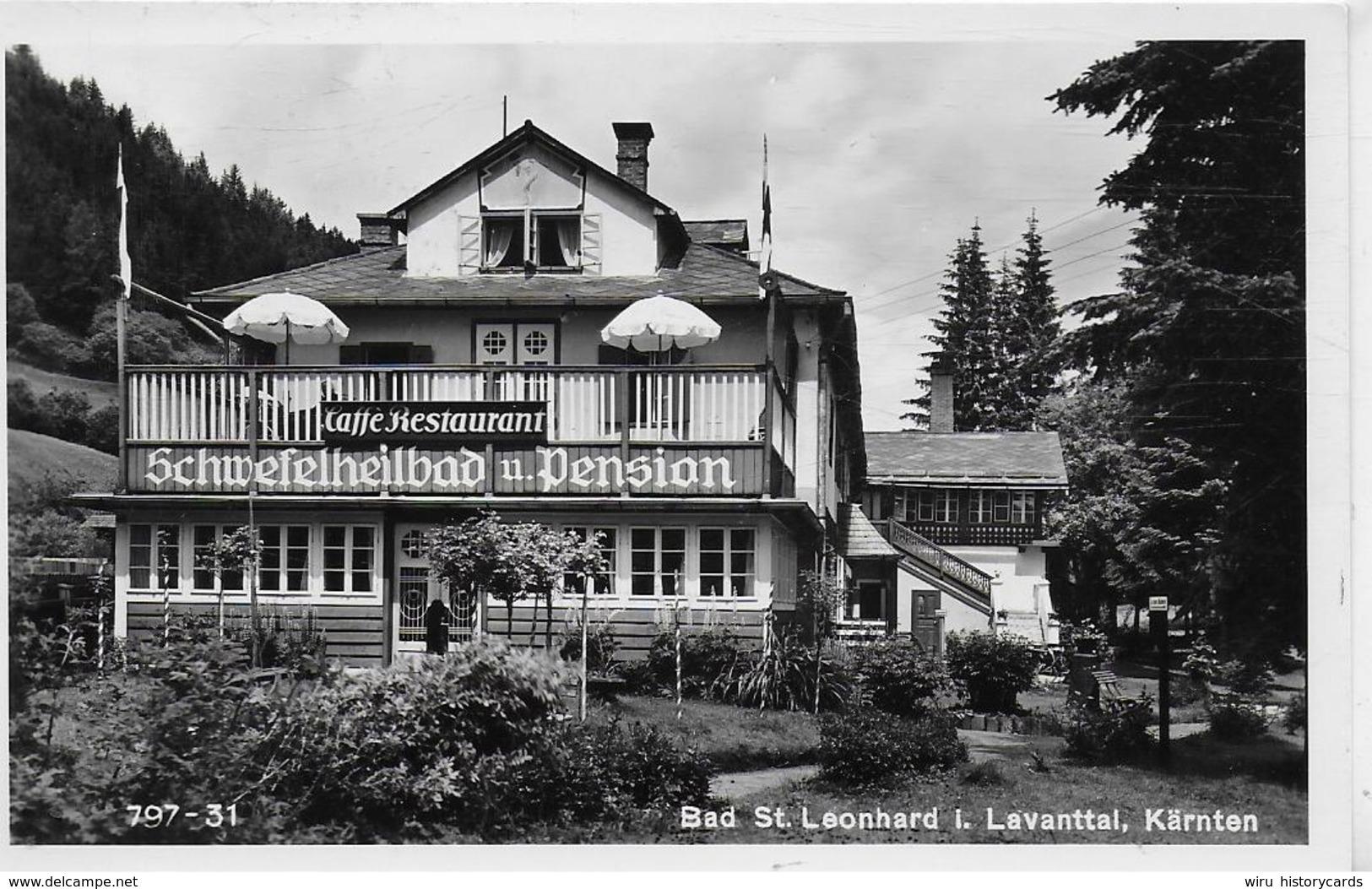 AK 0227  Bad St. Leonhard Im Lavanttal - Schwefelheilbad & Pension / Verlag Frank Um 1953 - Wolfsberg