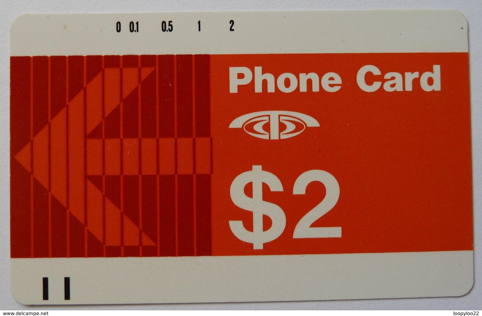 SINGAPORE - Anritsu - $2 - No Notch - 1985 - D1 - Mint - Singapore