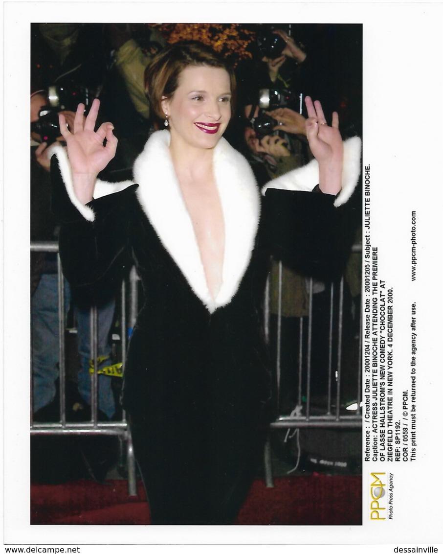 Actrice Juliette BINOCHE - Photo Presse PPCM - Première Du Film CHOCOLAT NEW-YORK 2000 - Photos