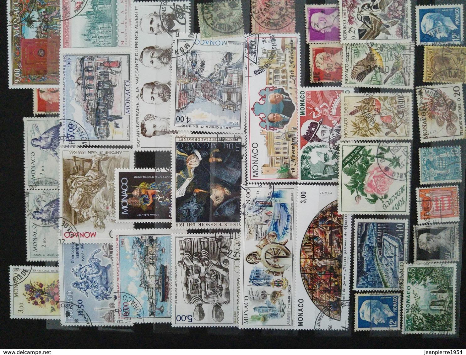 Album Monaco Oblitere Grosse Cote - Collections (with Albums)