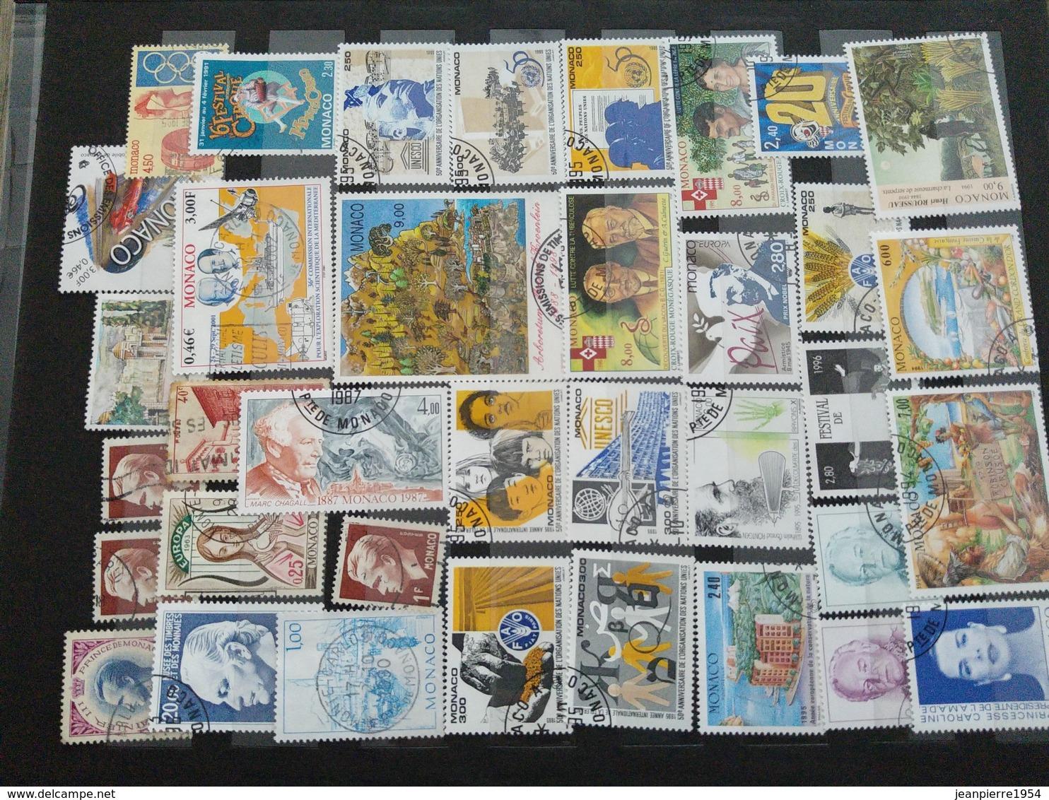 Album Monaco Oblitere Grosse Cote - Stamps