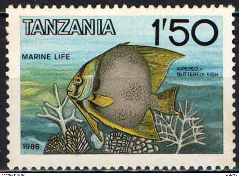 TANZANIA - 1986 - MARINE LIFE: BUTTERFLY FISH - MNH - Tanzania (1964-...)