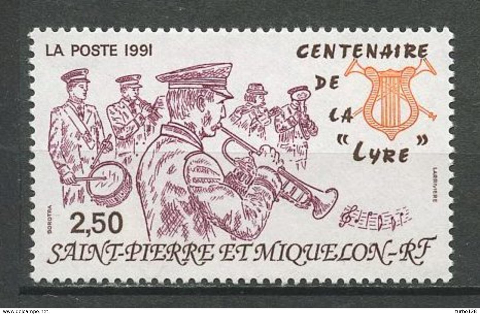 SPM MIQUELON 1991 N° 545 ** Neuf  MNH Superbe C 1.25 € Musique Music Centenaire De La Lyre Instruments Musiciens - St.Pierre Et Miquelon