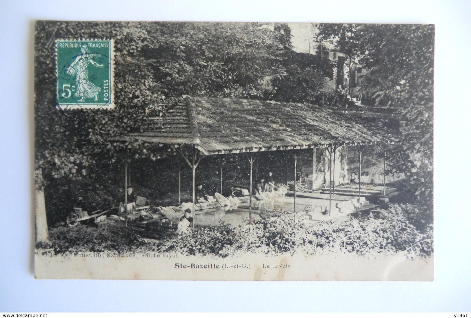CPA 47 LOT ET GARONNE SAINTE BAZEILLE STE BAZEILLE. Le Lavoir. 1909. RARE. - France