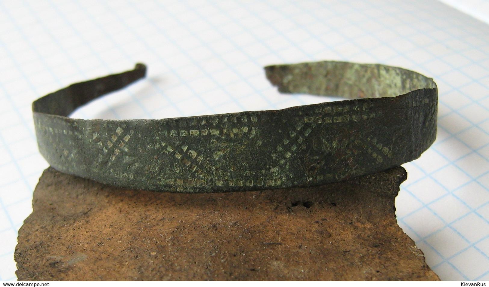 Ancient Vikings Bronze Bracelet 10-13 Centuries - Archeologia