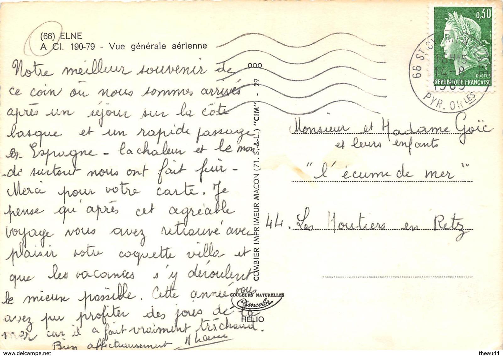 ¤¤  -   ELNE    -  Vue Générale Aérienne      -  ¤¤ - Elne