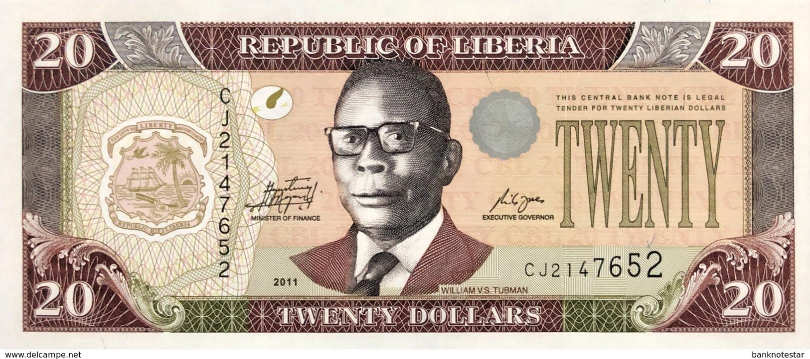 Liberia 20 Dollars, P-28g (2011) - UNC - Liberia