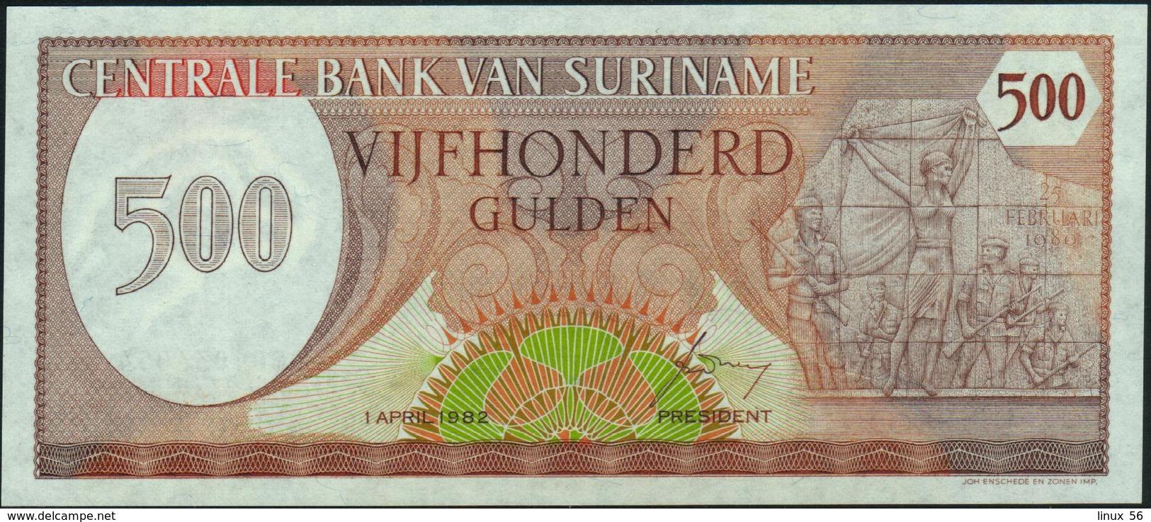 SURINAME - 500 Gulden 01.04.1982 UNC P.129 - Surinam