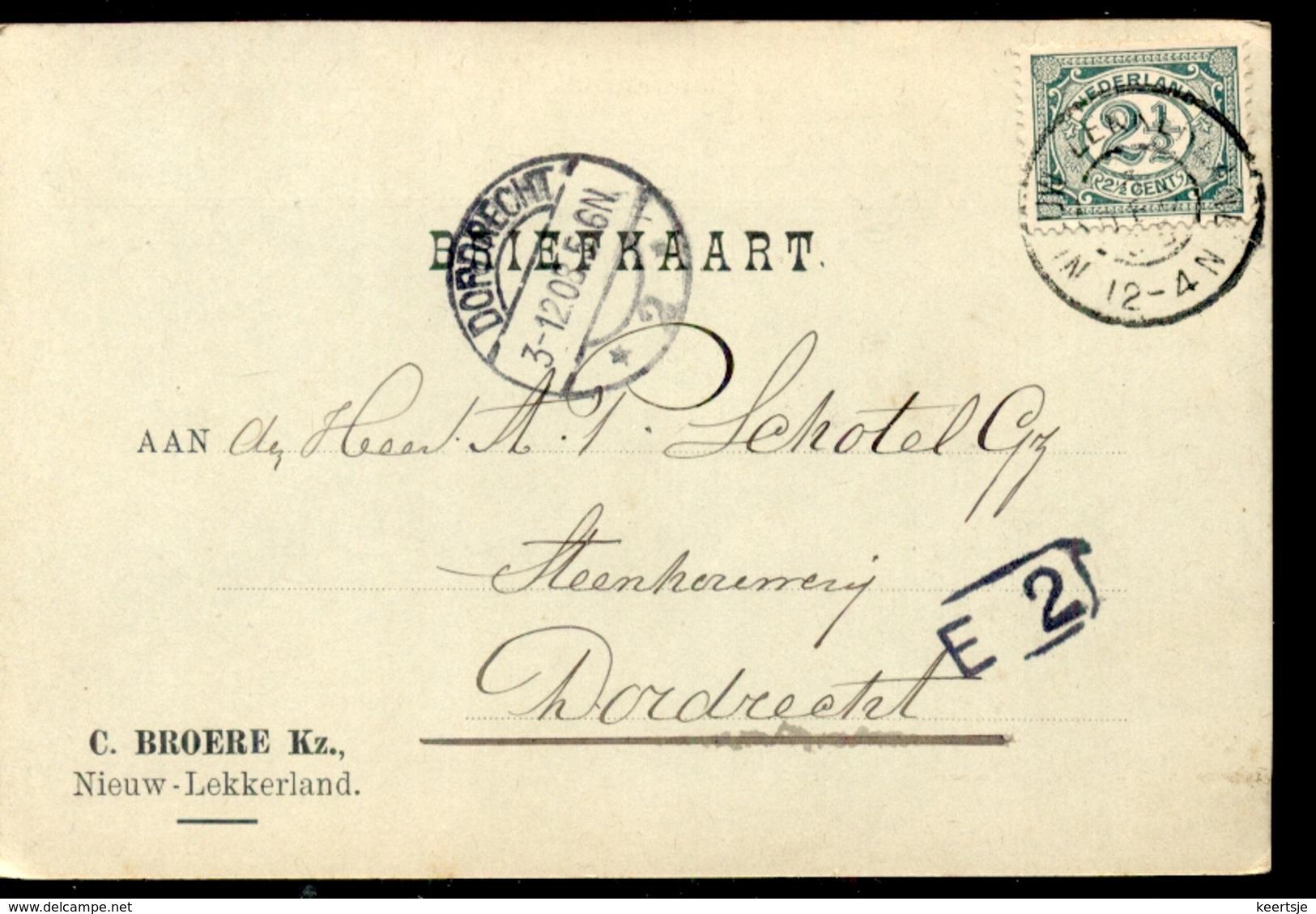 Nieuw Lekkerland - C Broere KZ - 1908 - 1891-1948 (Wilhelmine)