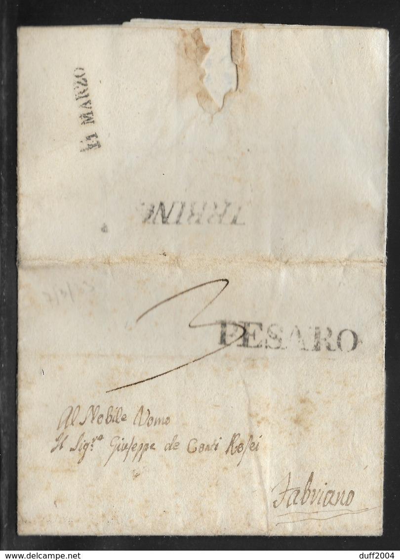 DA URBINO A FABRIANO - 7.3.1833. - Italia