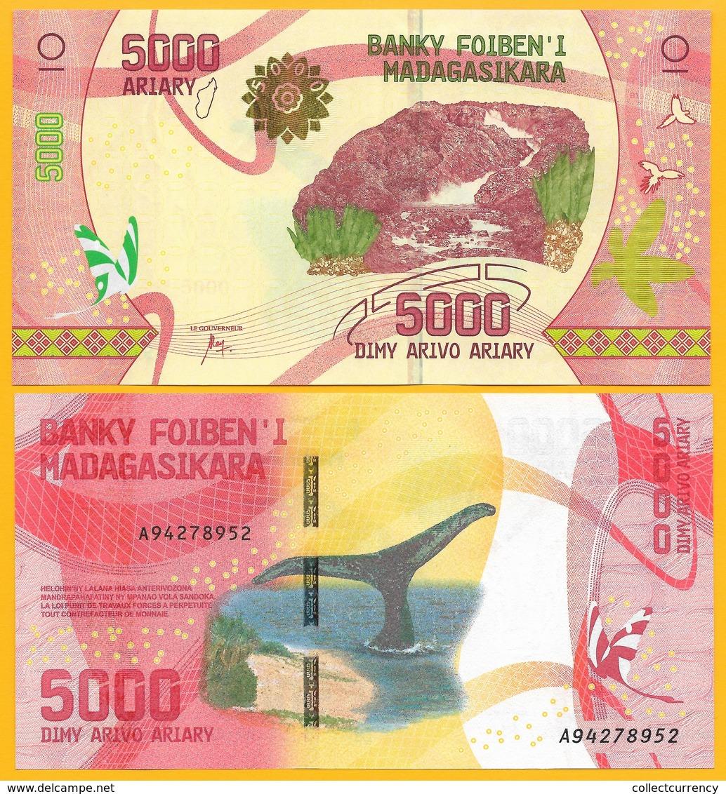 Madagascar 5000 Ariary P-102 2017 UNC Banknote - Madagascar