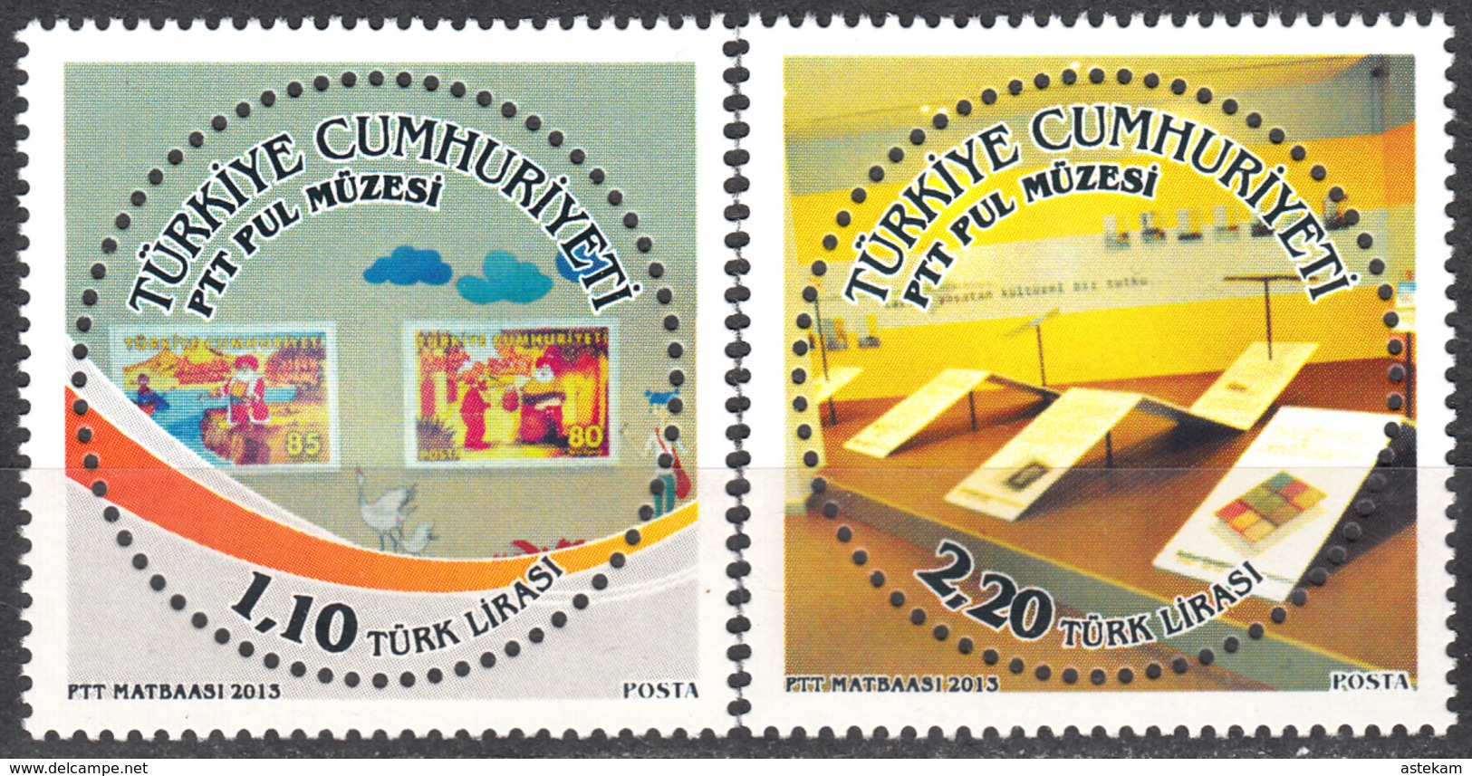 TURKEY 2013, STAMP ON STAMP, TURKISH MUSEUM Of The POST STAMPS, BIRDS, MNH SET (MiNo 4072/73) In GOOD QUALITY, *** - Nuevos