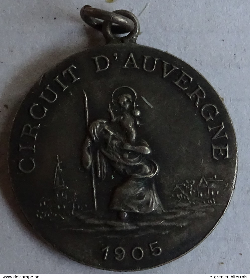 Ancien Médaillon Métal - Saint Antoine Circuit D'auvergne 1905 Talisman Du Chauffeur - Chocolat De Royat - Chocolat