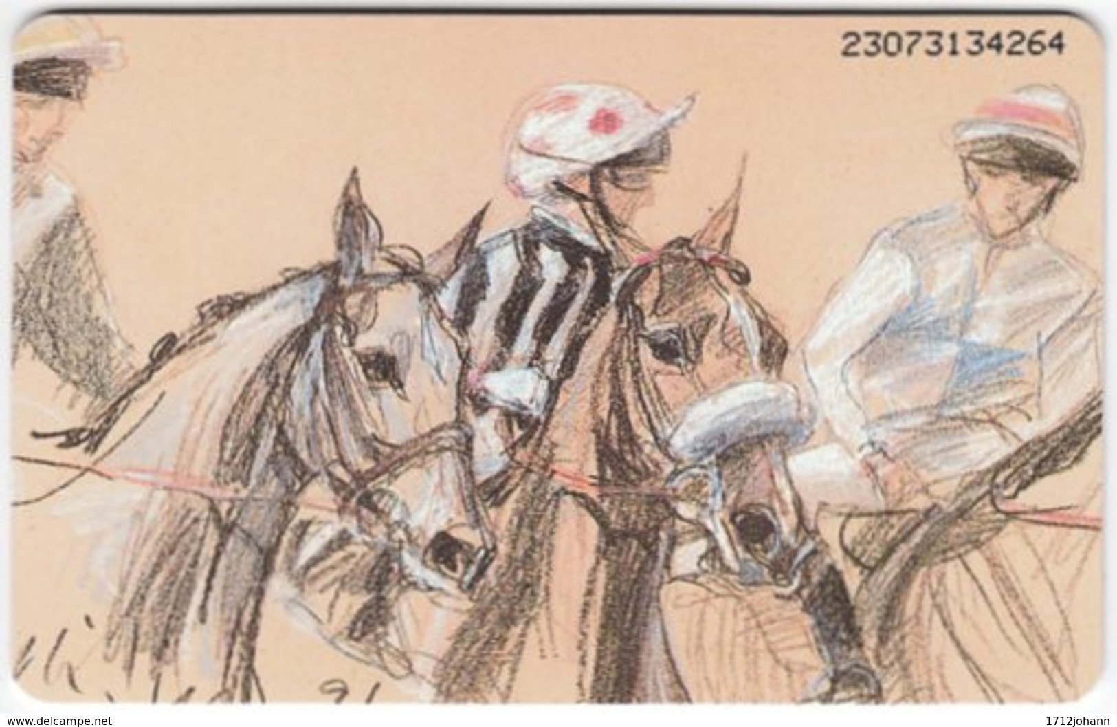 GERMANY K-Serie A-528 - 805 07.93 - Painting, Animal, Horse Race - MINT - Deutschland